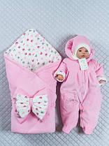 """Набор на выписку из роддома """"Принцесса"""" для девочки. Нежный розовый"""