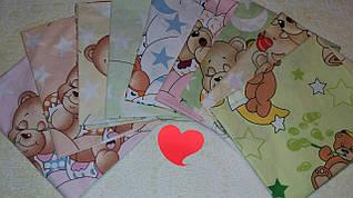 Детская цветная пеленка из бязи для мальчиков и девочек