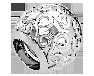 Бусина серебряная Шарм Вензеля Bs_92211