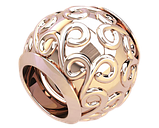 Бусина серебряная Шарм Вензеля Bs_92211, фото 2