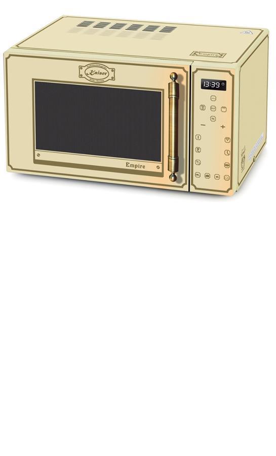 Мікрохвильова піч Kaiser M2500ElfEm - квар.гриль/конвекц/25л/900Вт/диспл/сенсор/сл.кістка