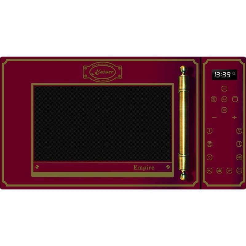 Мікрохвильова піч Kaiser M2500RotEm - квар. гриль/конвекц/25л/900Вт/диспл/сенсор/червоний