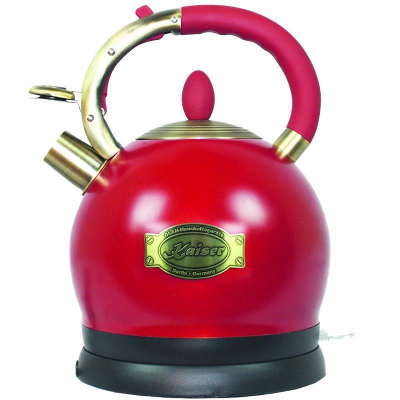 Електрочайник Kaiser WK2000RotEm - 2л./1800 Вт/дисковий нагр. ел/червоний
