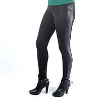 Лосины женские, эластик+кожа,  размеры XL-XXXXL, №5036, фото 1