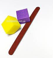 Индивидуальный набор для гель-лака, маникюра пилочка+2 мини бафа
