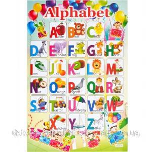 Плакат картонний «Алфавіт АНГЛІЙСЬКА»