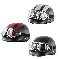 Ретро Винтаж мотоцикл Шлем с защитными очками для Xiaomi M365 Электрический скутер - 1TopShop