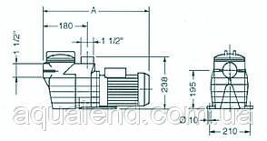 Насос Caribe СК33 Kripsol циркуляционный 0,45кВт, 7м3/ч, фото 2