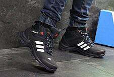 Мужские зимние кроссовки Adidas Climaproof,нубук ,черно-белые 41,42р, фото 2