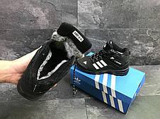 Мужские зимние кроссовки Adidas Climaproof,нубук ,черно-белые 41,42р, фото 3