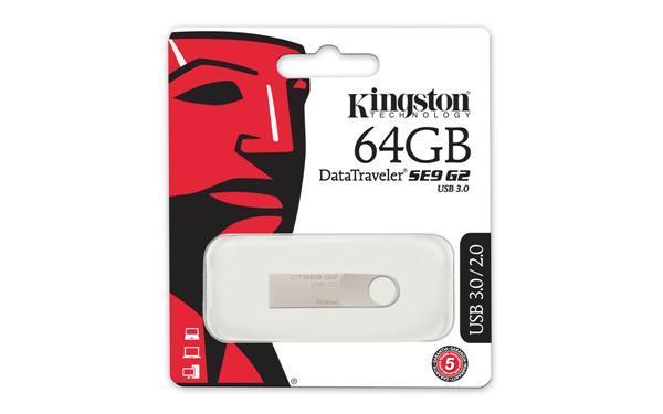 Накопичувач Kingston 64GB USB 3.0 DTSE9 G2 Metal Silver