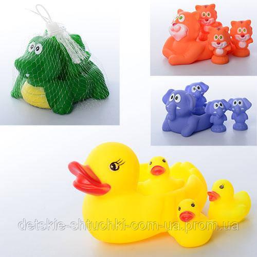 Тварина 001-628-48-58 для купання, 4 шт., пискавка, 4 види, сітка, 14,5-9-7 см.