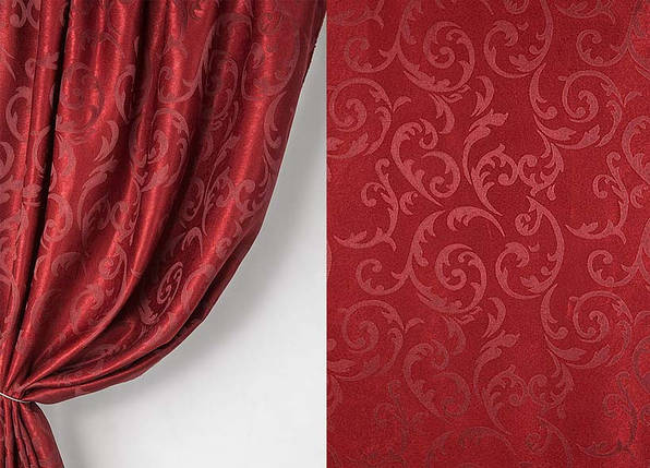 Ткань софт-велюр  Интерио, Бордо, фото 2