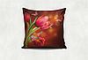 Подушка декоративная с принтом Цветы маслом