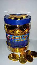 """Шоколадные конфеты """"Монеты"""" (Tayas) 200шт/банка"""