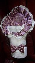 """Весенний конверт-одеяло """"Королевский"""" для новорожденной девочки"""