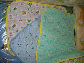 Детская многоразовая пеленка из фланели 50х70 см для мальчиков и девочек