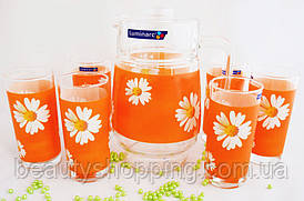 Набор для напитков Luminarc - PAQUERETTE MELON G1980 7 предметов на 6 персон