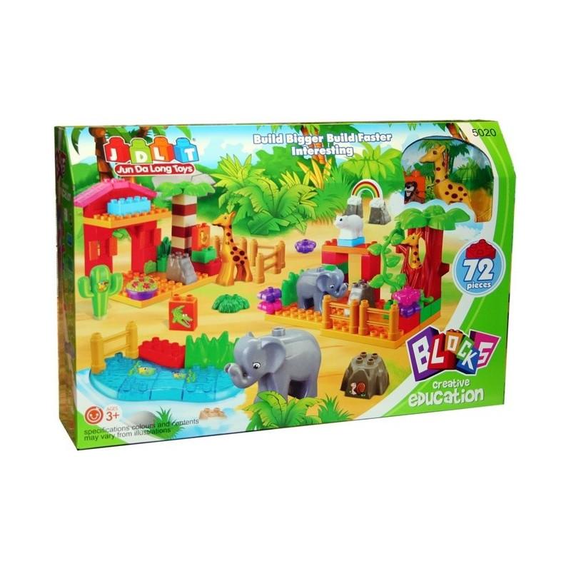 Конструктор для малышей Зоопарк 5020 72 детали