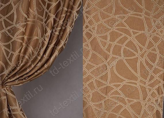 Ткань Софт-велюр Мрамор,  Светло-коричневый, фото 2