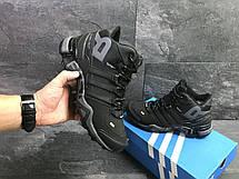 Высокие зимние кроссовки Adidas Climaproof,нубук,черные с серым, фото 3