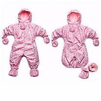Фирменный комбинезон-конверт для девочки 0-12 мес. Весна/Осень (розовый цветочек)
