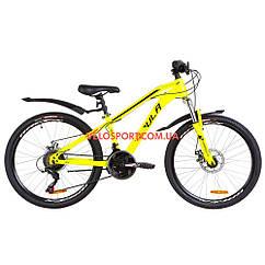 Подростковый велосипеды Formula Dakar DD 24 дюйма желтый