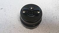 Ретро выключатель керамический черный глянец (Двухклавишный)