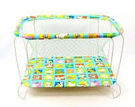 """Детский манеж Kinder Box """"Звери кубик"""" крупная сетка для детей 6 мес-3 года. Гарантия безопасности!"""