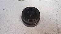 Ретро розетка керамическая черный глянец ( с заземлением)