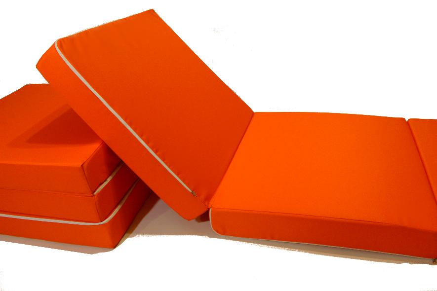 Матрас раскладной 70*195 см, раскладушка, пуф кровать оранжевый