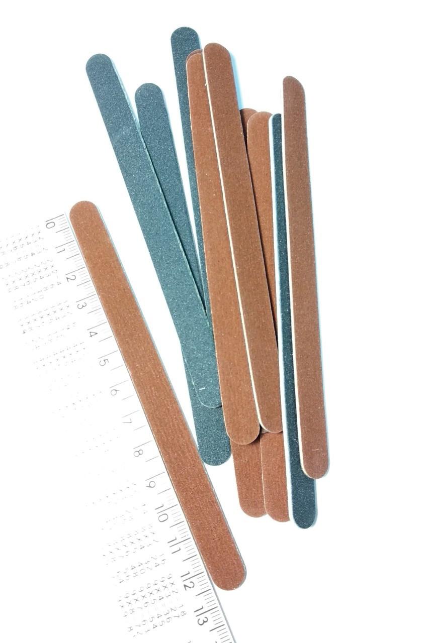 Набор пилочек для натуральных ногтей 180/240 овал 12шт