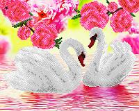 """Схема для вышивки бисером  """"Лебеди"""""""