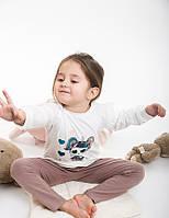 Детская пижама для девочки светло-молочная