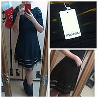 Брендовое платье MIU NIU 1604 черный М