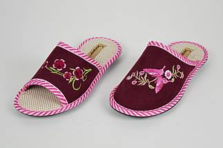 Тапочки бордовые с открытым носком Inblu KSGM016, фото 2