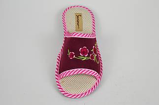 Тапочки бордовые с открытым носком Inblu KSGM016, фото 3