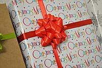 Банты подарочные тканевые новогодние 70 мм
