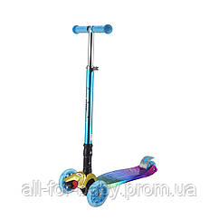 Детский самокат Bugs Hyper 2 Chameleon Blue (6905614651607)