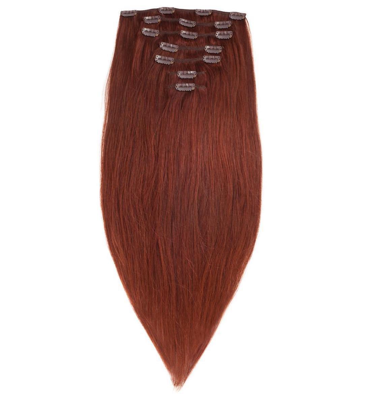 Волосы на заколках 60 см. Цвет #30 Натуральный рыжий, фото 1