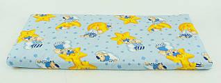 Детский ортопедический 2-х слойный матрас для мальчика Baby Comfort 120х60х4 см, голубой