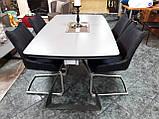 Раскладной обеденный стол LONDON керамика мокрый асфальт Nicolas (бесплатная адресная доставка), фото 5