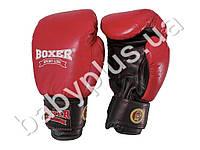 Перчатки боксерские Profi 12oz (кожа) красные
