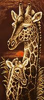 """Схема для вышивки бисером  """"Мамина любовь. Жирафы (серия Элит)"""""""