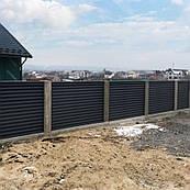 Забор Жалюзи Металлический двухслойный 0.8мм
