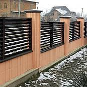 Забор Жалюзи Металлический двухслойный 0.8мм 60 / 100