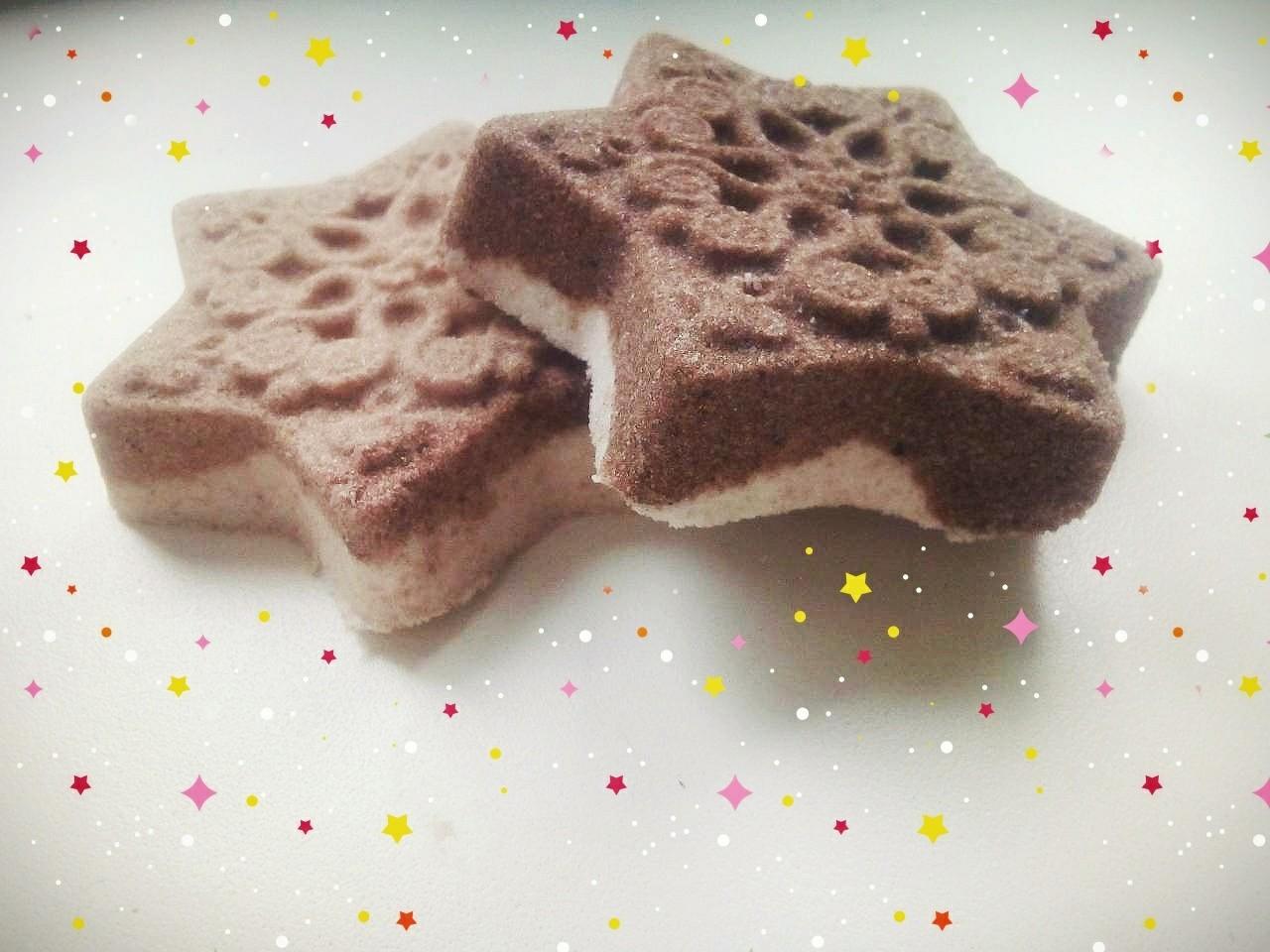 Бомбочки для ванной ручной работы Снежинки шоколадные