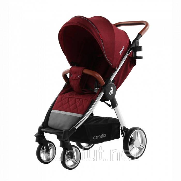 Коляска прогулочная CARRELLO Milano CRL-5501 Красная