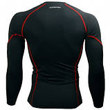 Спортивный рашгард Btoperform длинный рукав черный с красным, фото 3