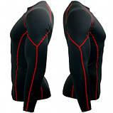 Спортивный рашгард Btoperform длинный рукав черный с красным, фото 5